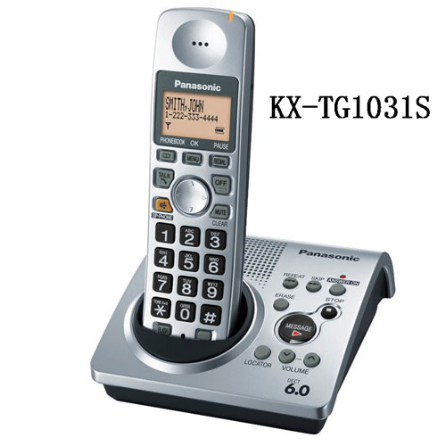 Panasonic KX-TG1031S digital telephone 1.9 GHz DECT 6.0 Cordless Phone with Answering system