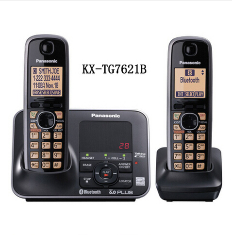 Panasonic  KX-TG7621B 1.9 Digital wireless phone DECT 6.0 via Bluetooth Cordless Phone with Answering system