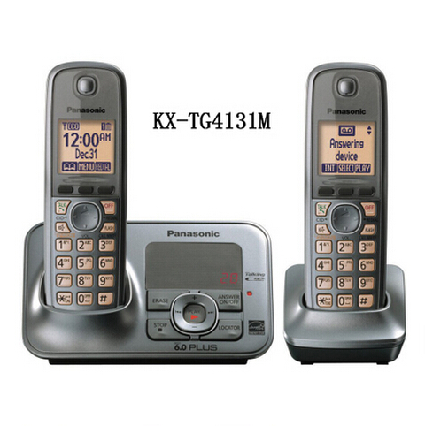Panasonic KX-TG4131M DECT 6.0 Cordless Phone with Answering System, Metallic Gray